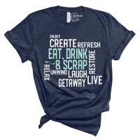 Eat Drink Scrap Words T-Shirt
