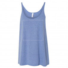 Blue Triblend Slouchy Tank Top BYOT