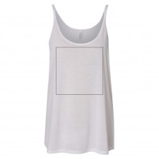 White Slouchy Tank Top BYOT
