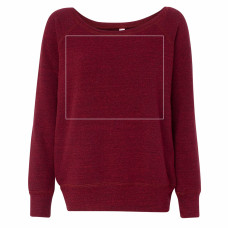 Red Triblend Slouchy Sweatshirt BYOT