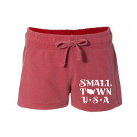 Small Town USA Printed French Terry Shorts
