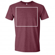Soft Style Heather Maroon Crew Neck BYOT