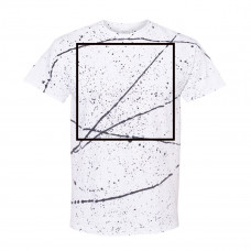 White Black Splatter Tee BYOT