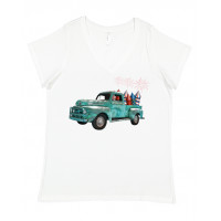 USA Truck Curvy Collection V-Neck