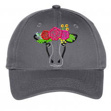Cow With Roses Youth Hat