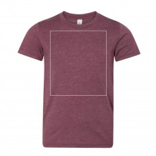 Heather Maroon Youth T-Shirt BYOT