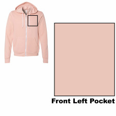 Peach Unisex Sponge Fleece Full-Zip Hoodie BYOT